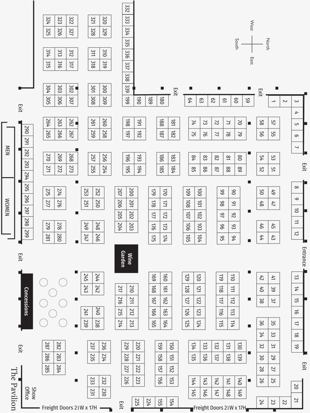 Sac Home and Garden Show Floorplan